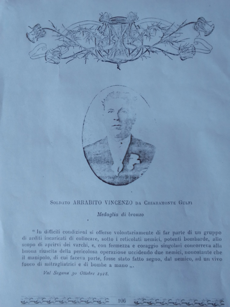 Vincenzo Rabito  Medaglia di bronzo al valore militare